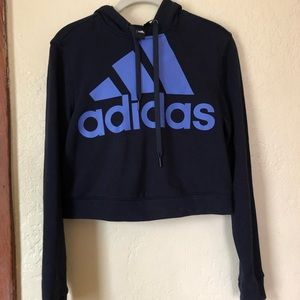 Adidas Cropped Hoodie Size S